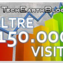 Oggi è un giorno molto speciale per TechEarthBlog: abbiamo finalmente raggiunto e superato la soglia delle 150.000 visite dall'apertura del 9 Giugno 2011.Tutto questo solo grazie a voi che ci seguite! Continuate a seguirci e 150.000 GRAZIE!