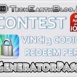 CONTEST: vinci 3 codici redeem per GeneratorPass con TechEarthBlog! [iOS]