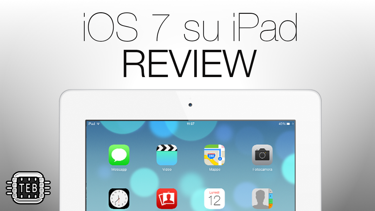 MINIATURA iOS 7 su iPad REVIEW