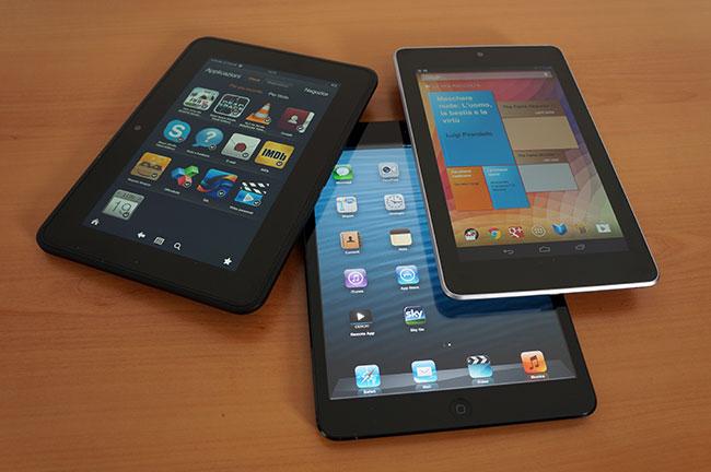 iPad mini Nexus Kindle