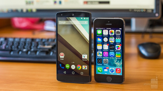 Android L iOS 8