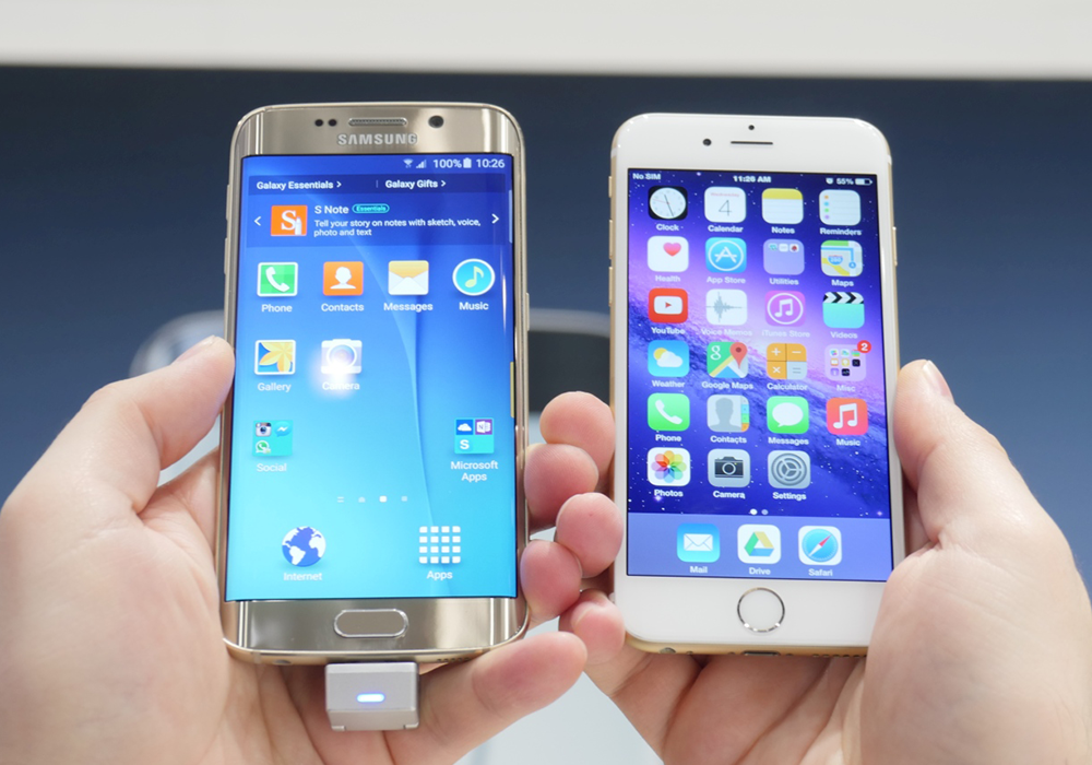 Ecco un nuovo speed test tra il Galaxy S6 Edge e l'iPhone 6 [VIDEO]