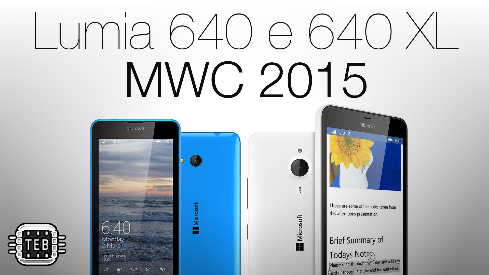 MWC 2015: ecco i nuovi Microsoft Lumia 640 e 640 XL [FOTO + VIDEO]
