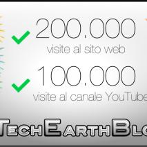 Oggi è sicuramente un giorno moltospecialeper noi, il sito web di TechEarthBlog hafinalmente raggiunto e superato la soglia delle 200.000 visite dall'apertura nell'ormai lontano2011. Inoltre anche il canale YouTube di TechEarthBlog ha raggiunto un altro importante traguardo, superando le 100.000 […]
