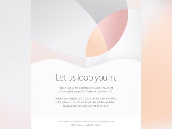 Ufficiale: evento Apple fissato il 21 marzo, iPhone SE e iPad Pro da 9.7 pollici in arrivo!